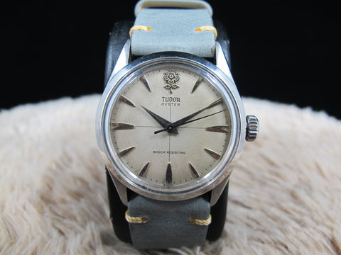 "1958 Tudor OYSTER 7934 Original BIG ROSE ""Cross"" Dial"