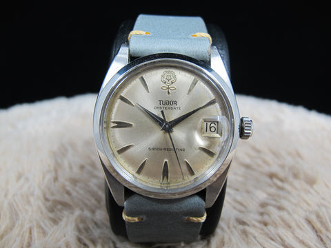 "1963 Tudor OYSTER 7962 Original BIG ROSE ""Cross"" Dial with Date"