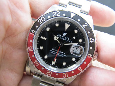 1989 Rolex GMT MASTER 2 16710 (T25 Dial) Coke Bezel with RSC Paper