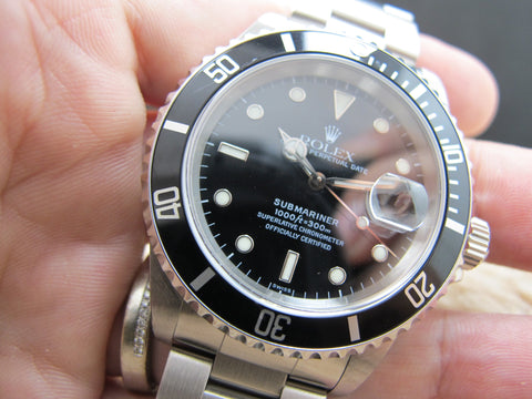 1998 Rolex SUBMARINER 16610 Black (SWISS) Dial with Black Bezel