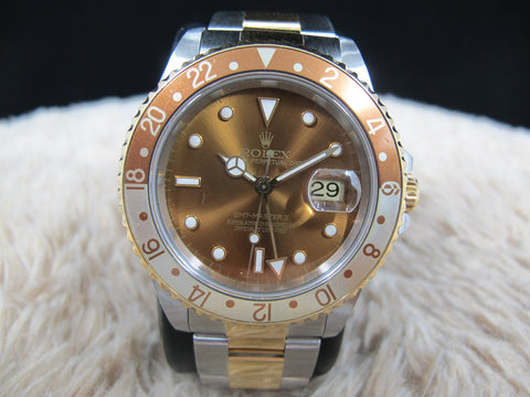[1997] Rolex GMT MASTER 2 16713 2-Tone with Root Beer T25 Dial