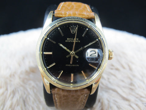 [1961] Rolex OYSTER DATE 6694 Gold Plated with Original Glossy Gilt Dial