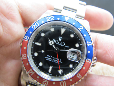 1991 Rolex GMT MASTER 16700 Pepsi Red/Blue Bezel