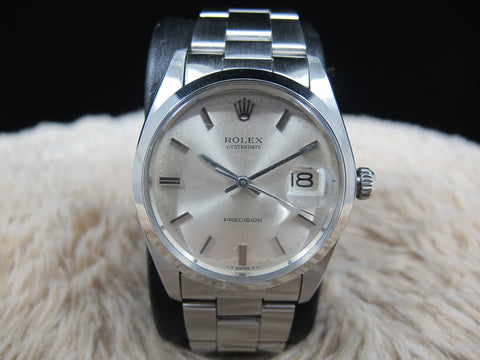 [1978] Rolex OYSTER DATE 6694 Original Silver Dial with Solid Oyster Band