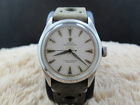 1952 Rolex OYSTER PERPETUAL BUBBLEBACK 6106 Creamy Dial