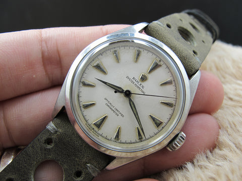 [1952] Rolex OYSTER PERPETUAL BUBBLEBACK 6106 Creamy Dial
