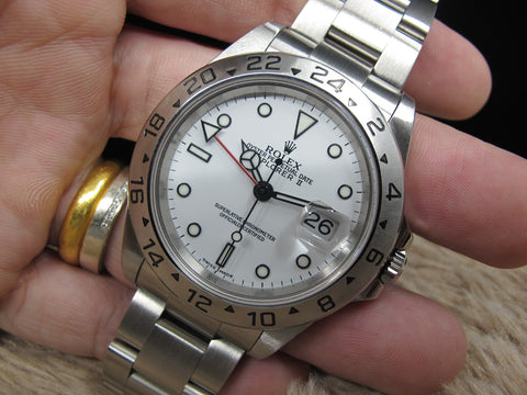 2001 Rolex EXPLORER 2 16570 White Dial with Box and Paper