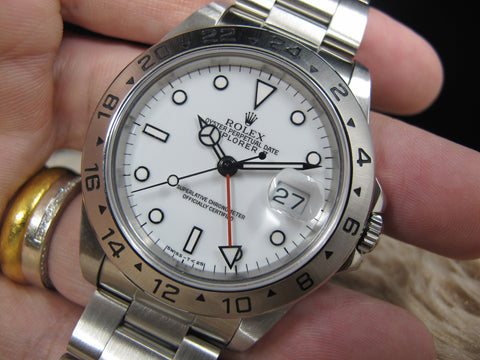 1991 Rolex EXPLORER 2 16570 with White T25 Dial