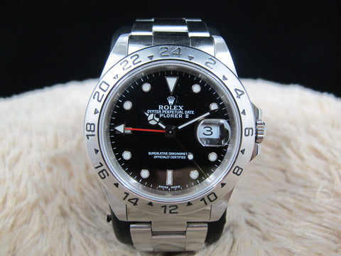 2001 Rolex EXPLORER 2 16570 with Black Dial