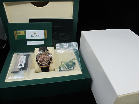 2016 Rolex DAYTONA 116515 Rose Gold Chocolate Dial Full Set Like New
