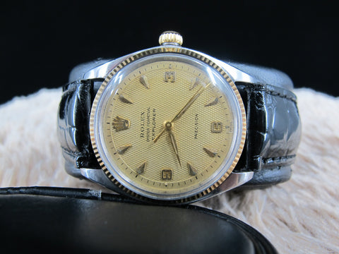 [1961] Rolex AIR KING EXPLORER 5501 with Tropical Honeycomb Dial
