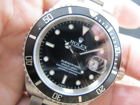 1999 Rolex SUBMARINER 16610 Black (SWISS) Dial with Black Bezel