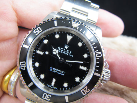 2001 Rolex SUBMARINER 14060M Black Dial with Black Bezel