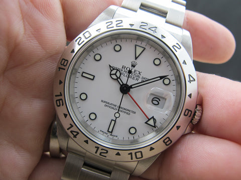 2004 Rolex EXPLORER 2 16570 White Dial with Full Set