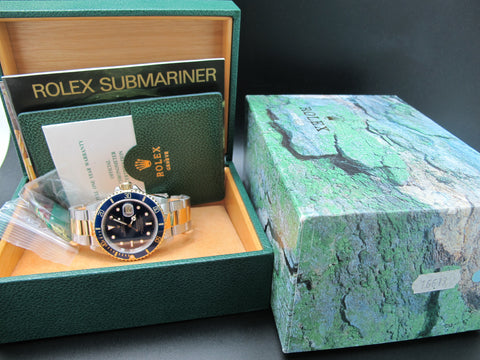 1991 Rolex SUBMARINER 16613 2-Tone Purple Dial Full Set