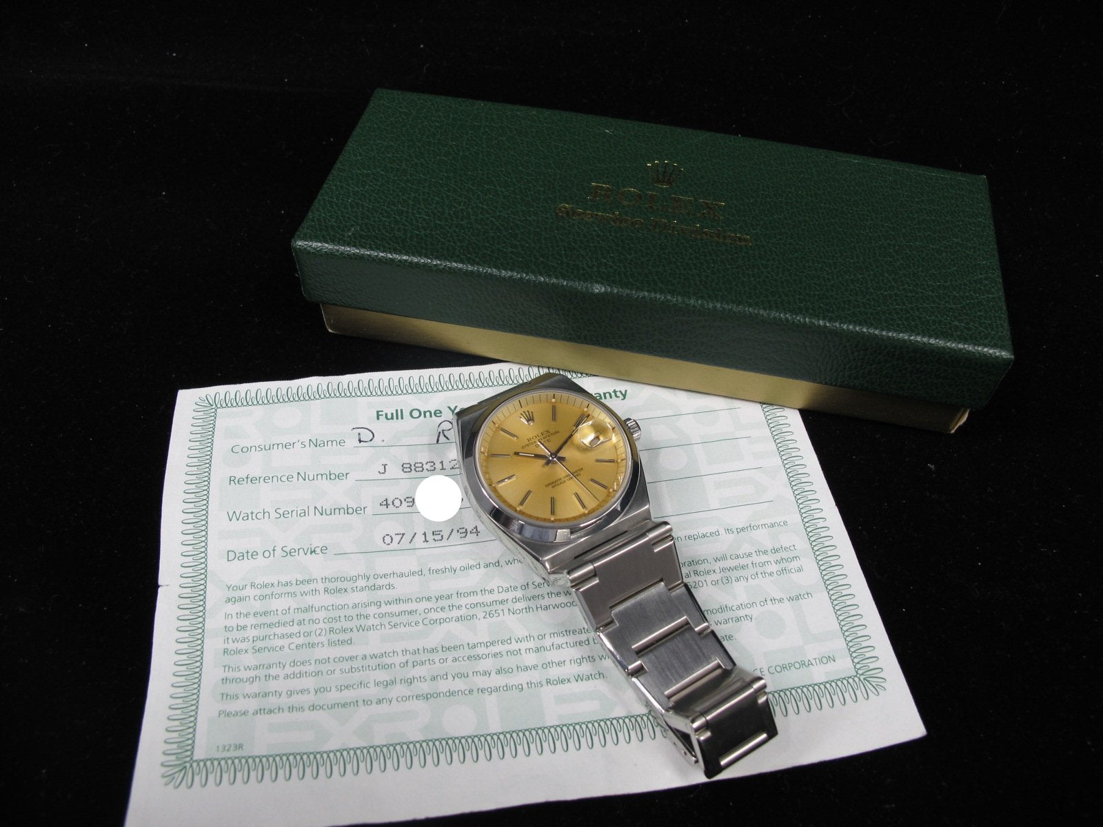1974 Rolex Oyster Date 1530 Original Silver Turned Tropical Dial