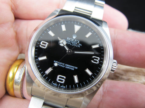 2005 Rolex EXPLORER 1 114270 Black Dial with SEL Like New