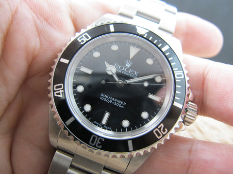 2002 Rolex SUBMARINER 14060M with Box and Paper