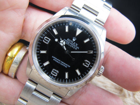 1999 Rolex EXPLORER 1 14270 Black (SWISS) Dial with Box and Papers