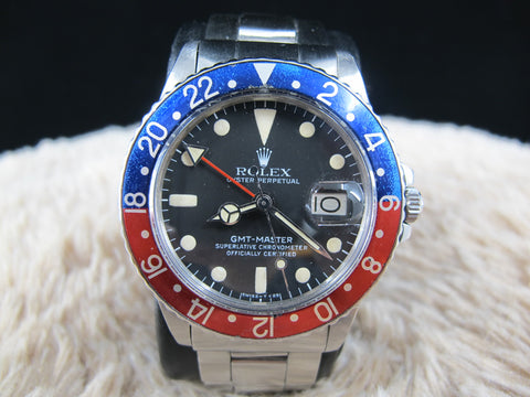 [1978] Rolex GMT MASTER 1675 Mark 5 Maxi Dial with Folded Oyster Band