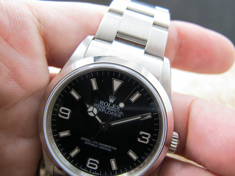 2006 Rolex EXPLORER 1 114270 Black Dial (with inner ring engraving)