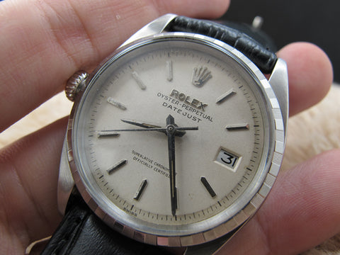 1959 Rolex DATEJUST Left-Handed 6605 with Original White Dial