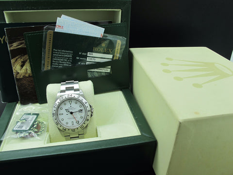 2009 Rolex EXPLORER 2 16570 White Dial with FULL SET