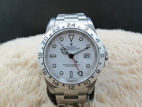 2000 Rolex EXPLORER 2 16570 White Dial with SEL