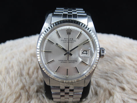 1972 Rolex DATEJUST 1601 Stainless Steel Original SIlver SIGMA Dial Solid Jubilee