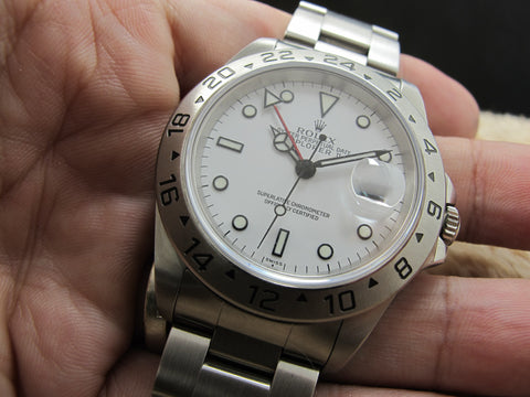 1999 Rolex EXPLORER 2 16570 White (Swiss) Dial