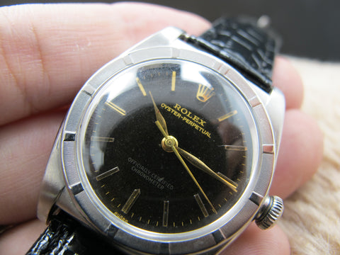 1949 Rolex BUBBLEBACK 3372 with Glossy Tropical Gilt
