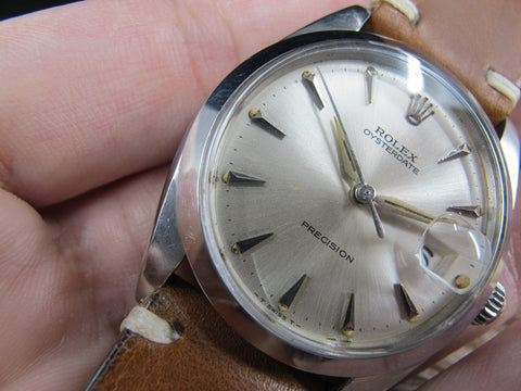 [1965] Rolex OYSTER DATE 6694 Original Silver Dial with Dauphine Hands