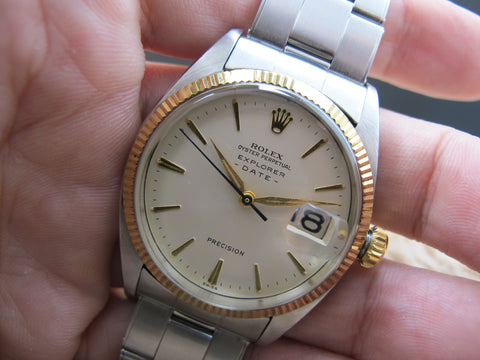 [1960] Rolex AIR KING EXPLORER -DATE- 5701 Original Creamy Dial RARE