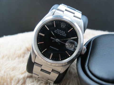 1972 Rolex AIR KING DATE 5700 Original Matt Black Dial with Box and Paper