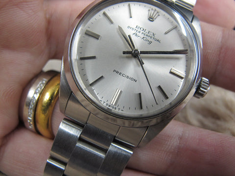1967 Rolex AIR KING 5500 Original Silver Dial with Solid Oyster Band
