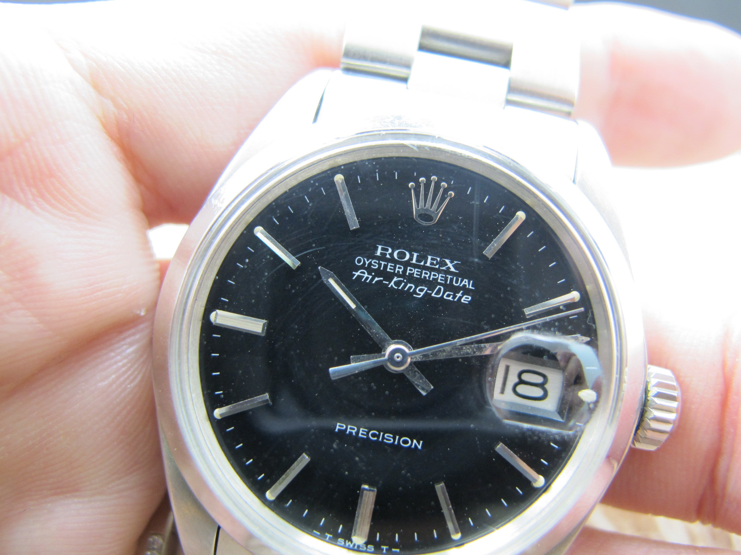 1972 Rolex AIR KING DATE 5700 Original Matt Black Dial ...