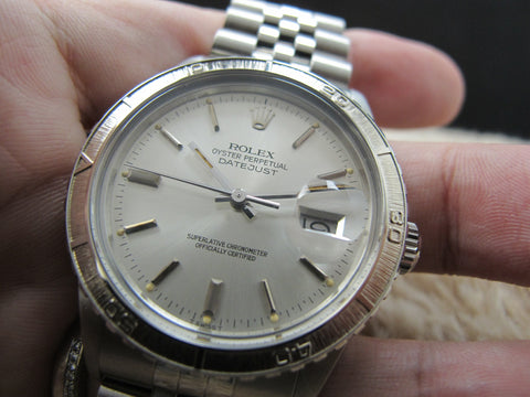 1982 Rolex DATEJUST THUNDERBIRD 16250 Original Silver Dial FULL SET