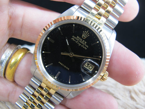 [1987] Rolex AIR KING DATE 5701 Original Gilt Dial with Fluted Bezel