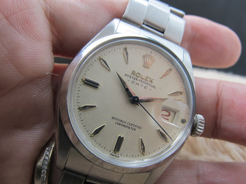 1958 Rolex OYSTER DATE 6534 with Original Creamy Dial and Red/Black Date