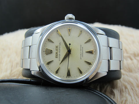 1956 Rolex OYSTER PERPETUAL 6564 Original Creamy Honeycomb Dial
