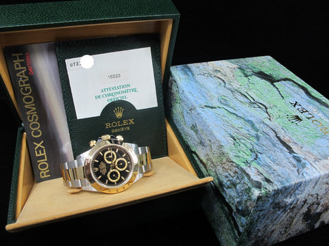 1999 Rolex DAYTONA 16523 (Zenith) with Original Black Dial with Box and Paper