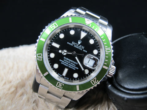 2004 Rolex SUBMARINER 16610LV MK1 Flat 4 with Box and PAPER (F3 Serial)