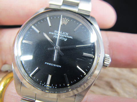 1987 Rolex AIR KING 5500 Original Black Dial with Full Set (Unpolished)