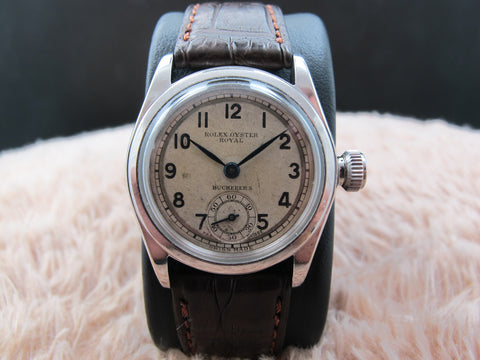"1939 Rolex Oyster ROYAL 2280 with Arabic Numerals Signed with ""Bucherer's"""
