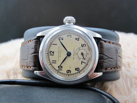 "[1939] Rolex Oyster ROYAL 2280 with Arabic Numerals Signed with ""Bucherer's"""