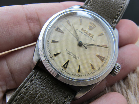 1953 Rolex BUBBLEBACK 6285 with Original Creamy Honeycomb Dial