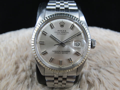1972 Rolex DATEJUST 1601 SS with Original Wide Boy Dial