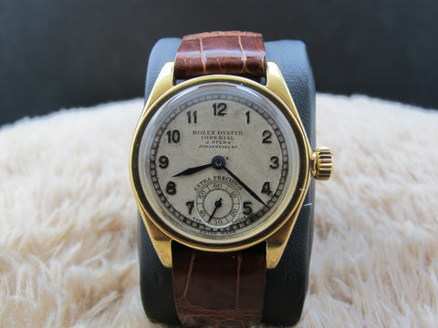 1937 Rolex OYSTER IMPERIAL 2574 18K Gold with Raised Arabic Dial