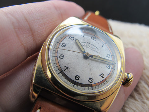 [1946] Rolex OYSTER IMPERIAL Military 3116 14K Gold with Arabic Dial