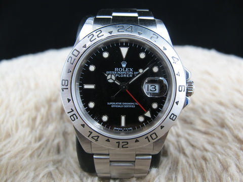 1997 Rolex EXPLORER 2 16570 (T25 Dial) with Black Dial